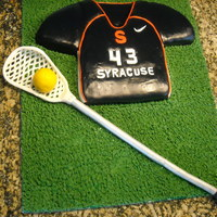 Lacrosse Themed Birthday Cake