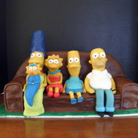 The Simpson's I made this cake for my daughter's fiance's brother who just returned home from Afghanistan (a big Simpson's fan). The first...