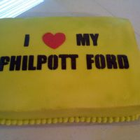 Cakes Philpott Ford Cake made to look like the license plate.