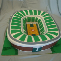 Breslin Center/michigan State Basketball Arena Grooms cake for a husband who met his bride at Michigan State University. Yellow cake with strawberry filling and buttercream. It was a...