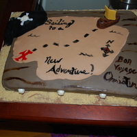 Going Away/bon Voyage Cake They had a themed going away party. One guess what it was!