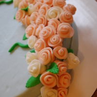 Sample Cake I just became a Wilton instructor, and this is the dummy cake that I took to Joann's