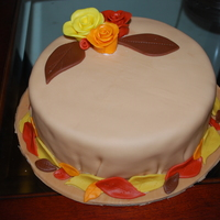 Thanksgiving/birthday Cake I decided to give the free form roses (from that Youtube video!) a try. Not bad for a first time. Everything's fondant.