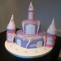 "Princess Castle I did this for a little girls birthday - the cake is a 10"" and 6"" round cake - it was the first time i had ever done anything..."