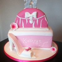 Shoe Box And Handbag  This is a cake i was asked to make for someones 21st birthday - pink was her favorite colour and mum wanted lots of pink! this was my first...