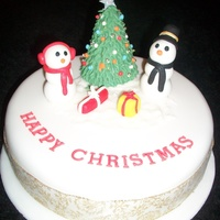 Snowman And Christmas Cake Tree I made this as a dummy cake for a craft fair I am going to.