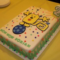 Wow Wow Wubbzy Cake This cake was for my baby's 2nd birthday - he LOVES Wubbzy. It's a 2 layer 10x13 cake with pineapple & whip center. Wubbzy...