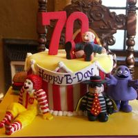Ronald Mcdonald House 70Th Birthday This cake was for a family friend who works for the Ronald McDonald House and is turning 70. We (my incredibly talented sister & I)...