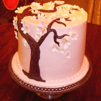 Cherry Blossoms Just a little cake, well tall but little. I don't know why I feel the need to make all my cakes so tall. LOL I've never done a...