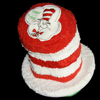 Dr.seuss Cat In The Hat This cake was made for a Dr.Seuss-Cat in the Hat theme party.It was for a first birthday for my friend's twins.