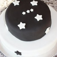 2 Tiered Orion Cake I made this cake for my best friends sons baptism. His name is Orion and they wanted a black and white theme with the Orion constellation...