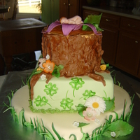 Enchanted Baby Shower Cake I loved making this cake. The lady who was having a baby loves green and four leaf clovers. This is what I came up with. Thanks to Jodie...
