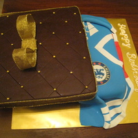 Chelsea Jersey Gift Box Cake
