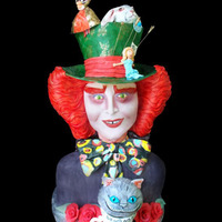 3D Hand Sculpted Mad Hatter Cake