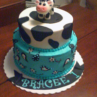 Cow And Bandana Print Cake