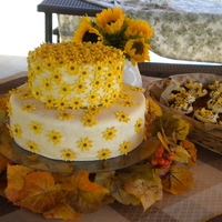 Autumn Flower Cake This is a cake with fondant with gumpaste flowers. The flavors are chocolate cake with peanut butter filling and pumpkin chocolate chip...