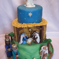 Happy Birthday, Jesus!  Three tiered vanilla cake. Decorations are made of marshmallow fondant. I have been looking forward to this cake. I was excited to have an...