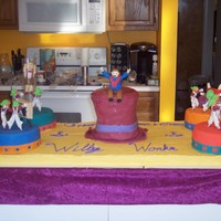 Willy Wonka Cake  I made this cake for my kids' school play Cast Party. This cake was my 3rd cake. You can see my others here at CC. It needed to feed...