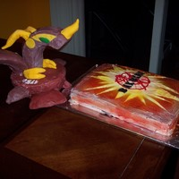 Bakugan Birthday  This cake was truly a challenge. Actually, the cake part was pretty easy. It was the actual Bakugan that was the challenge. My son is...