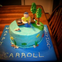 Fishing   Idea came from other cakes on this site.