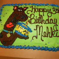 Scooby Doo Scooby Doo chocolate cake w buttercream icing!