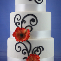 Poppies This was a display cake made for a recent bridal show.