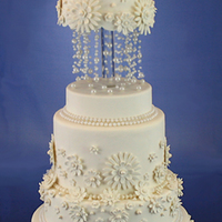Beaded Wedding Cake This is the second version of an earlier cake I did. I think this one turned out a little better.