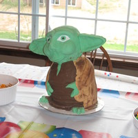 Yoda I found the instructions for this cake on the web. Mine was my first attempt of a 3-d cake and fondant. http://sandra-socake.blogspot.com/...
