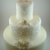 White Sugar Love   Dummy cake for a hotel presentation at a wedding show