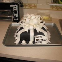 Birthday Present I made this cake for two of my male coworkers who share a birthday. One was turning 30, so I decided to go with a black and white theme. I...