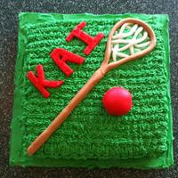 Lacrosse Cake This was a cake I made for a friend's son (Kai) who loves lacrosse.