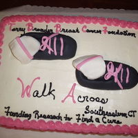 Breast Cancer Fundraiser Walk In Connecticut This cake was made for members of a team that walked in the Terry Brouder Breast Cancer Foundation Walk in Connecticut