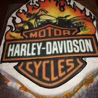 Harley Davidson Cake Every Harley Davidson fan will love this one.