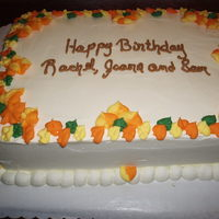 Fall Leaves Birthday Cake Birthday cake for October nice fall leaves