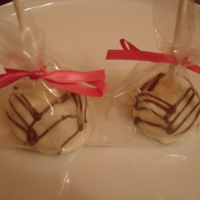 Sexy White Chocolate Amaretto Cake Pops
