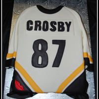 Crosby Jersey Made for a die hard crosby fan. Inspired by a cake posted by - cakaddict. Thank you!!