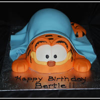 Garfield Birthday cake made for a woman that loves Garfield!