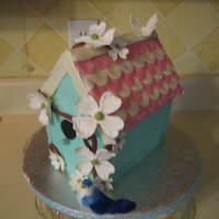 Birdhouse Birthday Cake This was a cake that I made for my MILs birthday. My inspiration was Small Things Iced. Not as good as hers but everyone liked it!...