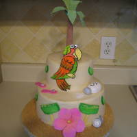 Margaritaville Birthday Cake Birthday cake for a Jimmy Buffet fan.