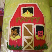 Barn Cake Chocolate Cake, Raspberry Filling, Carved into the barn shape, All buttercreamMade for my dads 55th Birthday (he requested it)