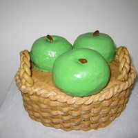 'arturo' Apple Spice cake with Caramel buttercream. Apples were carved from jumbo cupcakes.
