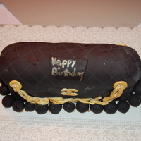 Bosses' Bday Cake Happy Birthday Boss. Chocolate Cake with dark chocolate filling covered with vanilla buttercream and vanilla fondant. First attempt at a...