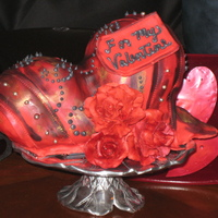 Gothic Heart This is my first cake central posting, which is ironic given this cake is not my usual style and probably not liked by all, but I think it...