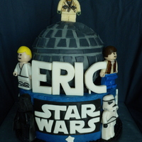 Star Wars Lego Iced in buttercream, all decoration and figurines are modelling chocolate. TFL!