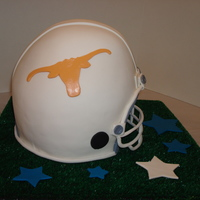 Texas Longhorn Football Helmet Cake