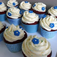 Blue Birthday Cupcakes