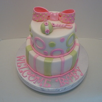Rattle 2Tier Baby Shower Cake
