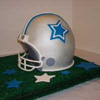 Dallas Cowboys Football Helmet Cake