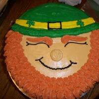 Leprechaun Face face all made from buttercream. Very fun to make