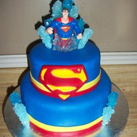 Superman covered in MMF with MMF accents. The superman is a toy and the ice is rock candy. TFL!